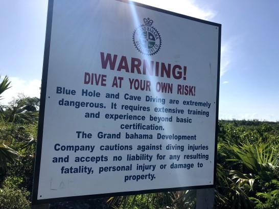 Warning Sign at Owl's Hole