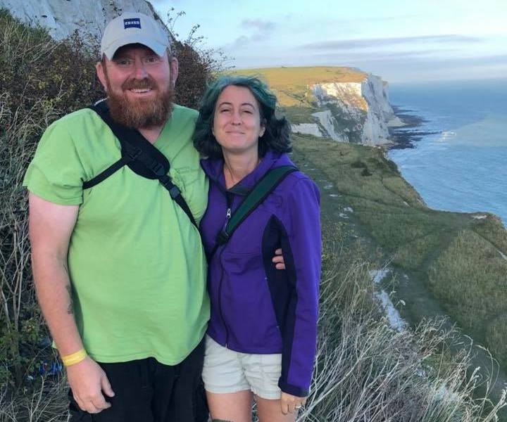 Gallus & Beck at the White Cliffs of Dover England August 2018